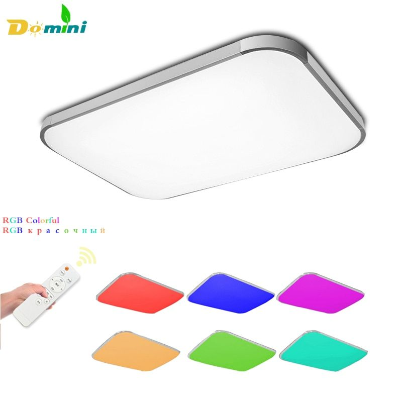 Dimmable Color Led Lamp <font><b>Ceiling</b></font> Lights with Remote Control for Living Room Light 24-200W <font><b>Ceiling</b></font> Modern Lamps