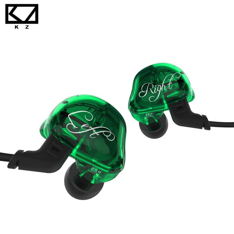 KZ ZSR 2BA+DD In Ear Earphone Armature With Dynamic Hybrid Headset HIFI Bass Noise Cancelling Earbuds With Replaced Cable