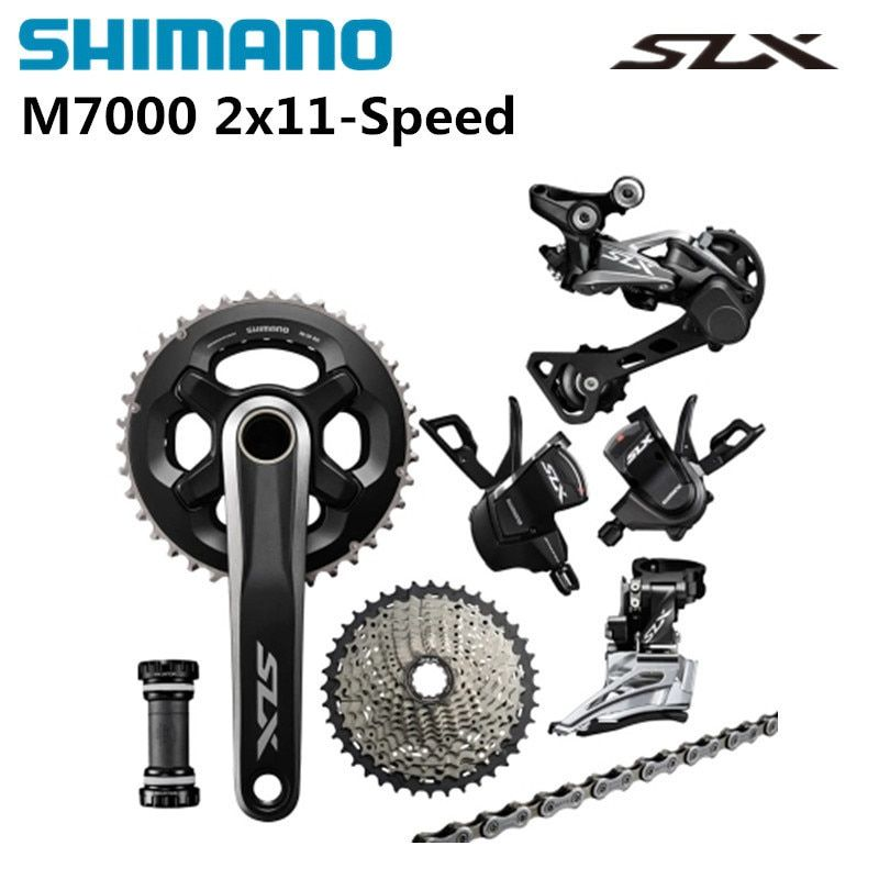 Shimano SLX M7000 2x11 22 Speed Groupset 7 Pcs.SLX M7000 Double Groupset 11-40 11-42T