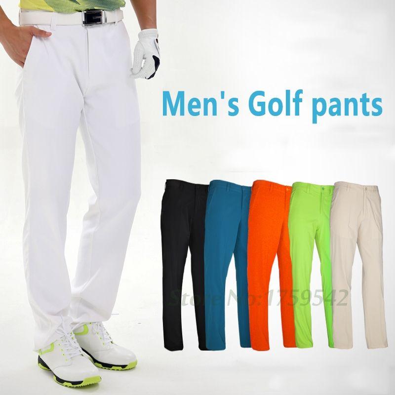 2017 de Golf de Los Hombres Pantalones de Secado rápido Deportes Impermeables Coloridos Pantalones de Golf Pantalones Delgados de Verano Al Aire Libre Palos de Golf Marca