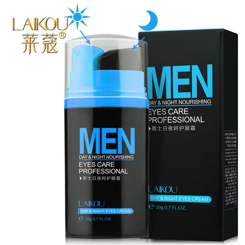 LAIKOU Men Day and Night Anti-wrinkle Firming Eye Cream 20g Skin Care Black Eye Puffiness Fine Lines Wrinkles Face Care Product