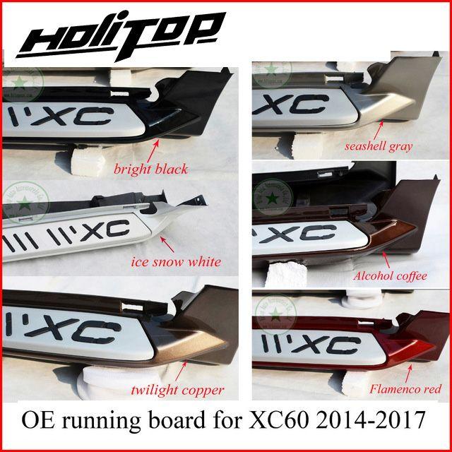 Trittbrett seite schritt nerf bar für Volvo XC60 2014 2015 2016 2017, mehr als sechs farben für ur wahl, 5 jahre + alte verkäufer