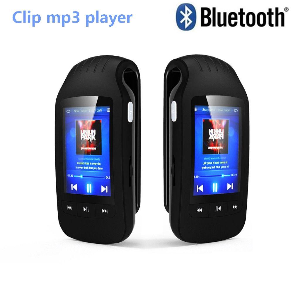Mini Clip Portable 8GB Bluetooth lecteur mp3 HOTT 1037 podomètre Sport Radio FM avec fente pour carte TF lecteur de musique stéréo 1.8 écran LCD