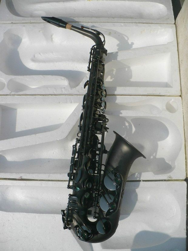 Alto Saxophone MARGEWATE Black Nickel Plated Sax Eb Falling Tune E (F) Musical Instruments Saxophone With Case Mouthpiece