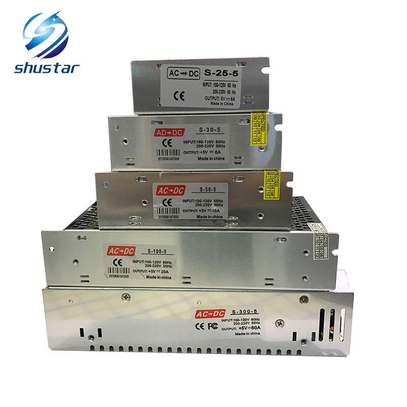 AC 110 V-220 V à DC 5 V 4A 5A 6A 10A 20A 40A 60A transformateur commutateur alimentation LED pilote adaptateur pour bande