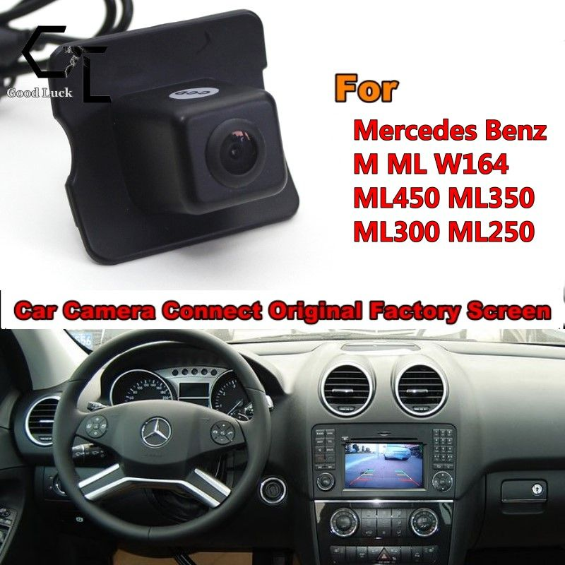 Reserved hole For Mercedes Benz M ML W164 ML250 ML300 ML350 ML450 Back Up Rear View Camera / RCA & Original Screen Compatible