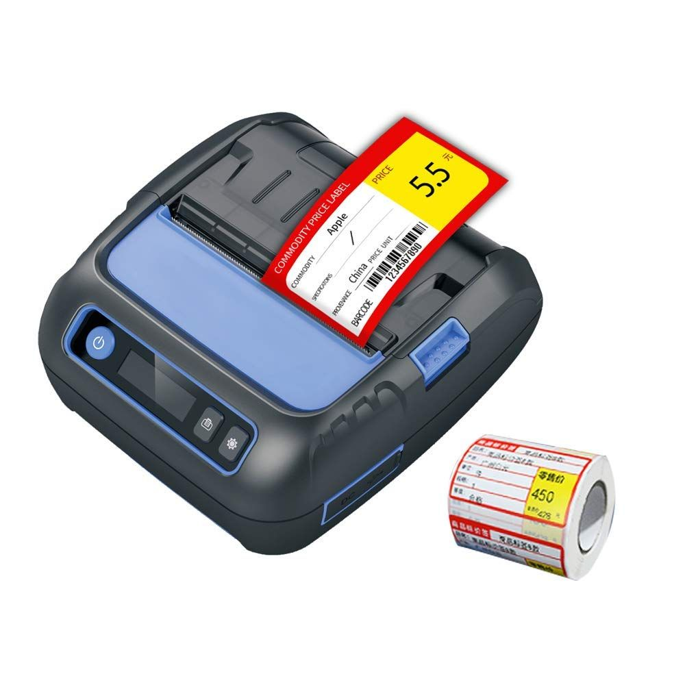 NETUM Bluetooth Thermal Receipt Label Printer 3 1/8 80mm Android / iOS Printer Small Business POS ESC/POS NT-P80A