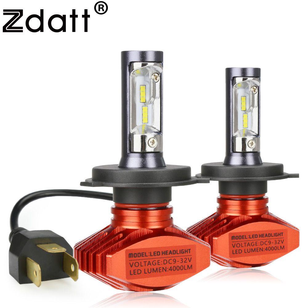 Zdatt Upgrade H4 Led Lamp H7 H11 H8 H9 H1 9005 HB3 9006 HB4 8000Lm 80W/Pair 12V 24V Led Headlight Bulb Auto Car Light 6000K CSP