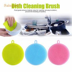 magic silicone sponge kitchen cleaning brushes Dish Washing Sponge Scrubber antibacterial Tool Drop shipping