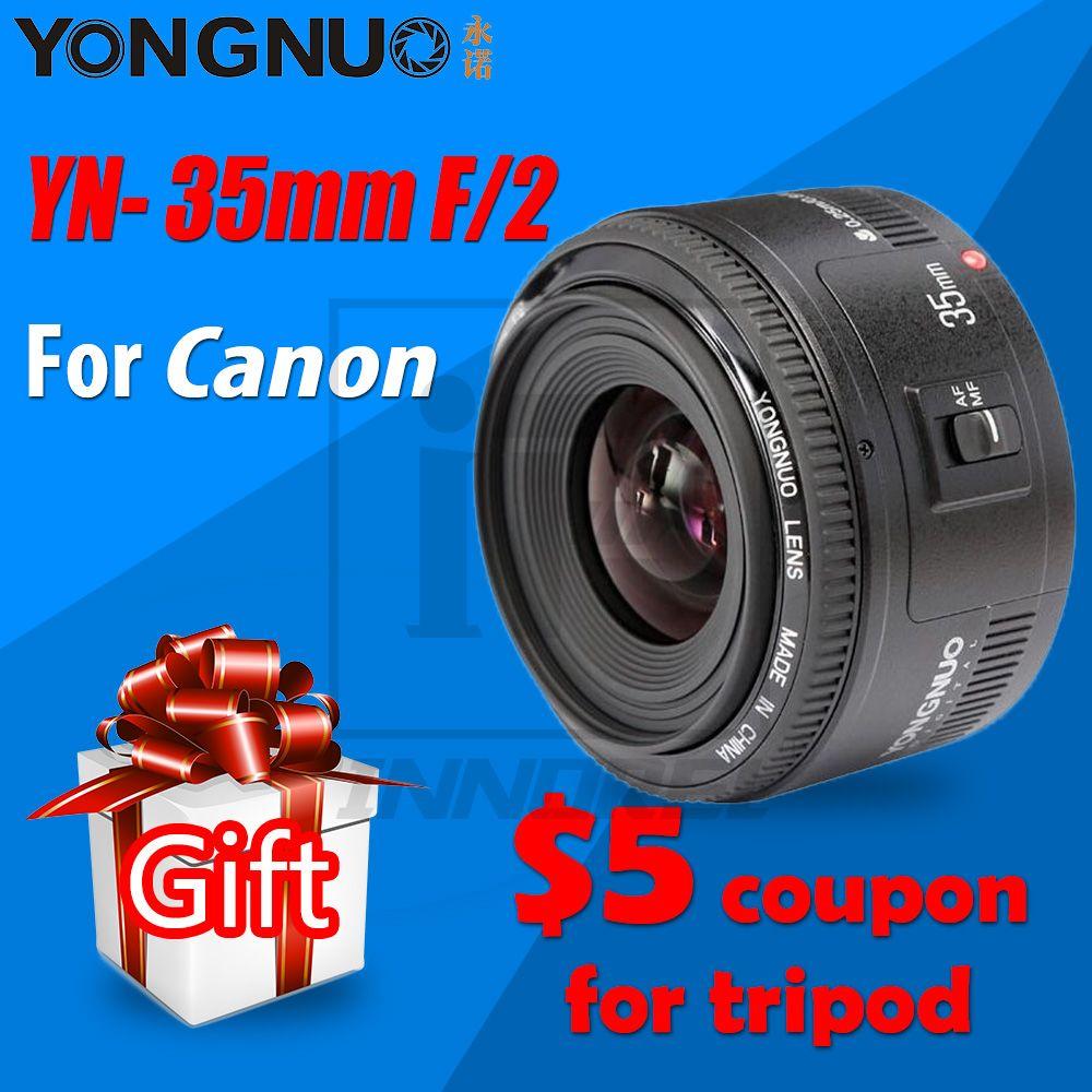 YONGNUO 35mm Objektiv YN35mm F2 Objektiv 1:2 AF/MF Weitwinkel Fixfokus/große Blende Auto Zoom Objektiv Für Canon EF Mount EOS kamera
