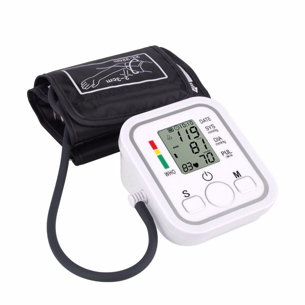 Upper Arm Blood Pressure Monitor Portable <font><b>tonometer</b></font> health care bp Digital Blood Pressure Monitor meters sphygmomanometer