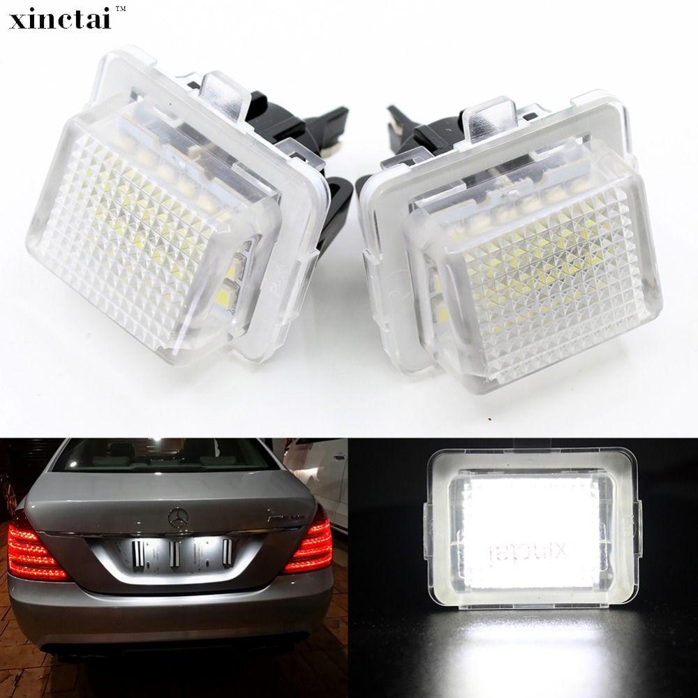 2 stücke Canbus Fehler Free LED Anzahl Kennzeichen Licht für Mercedes Benz W204 4D S204 5D W212 4D S212 5D C207 C216 W221