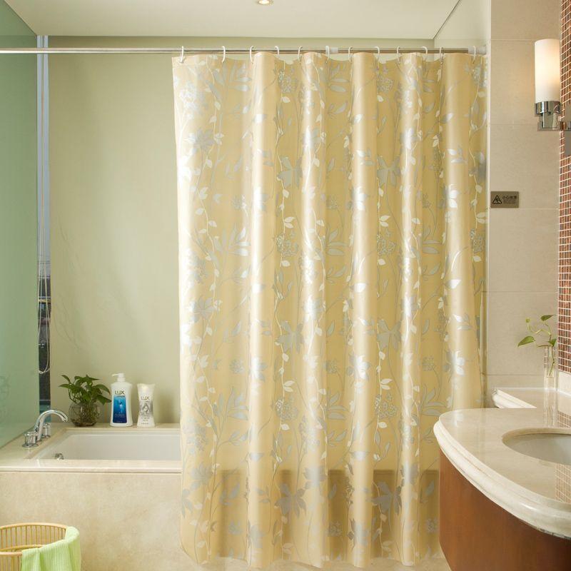 Экологичные ПЕВА Душ Шторы растения Pattern Водонепроницаемый mildewproof Для ванной душ Шторы с Крючки затенение Ванная комната Шторы