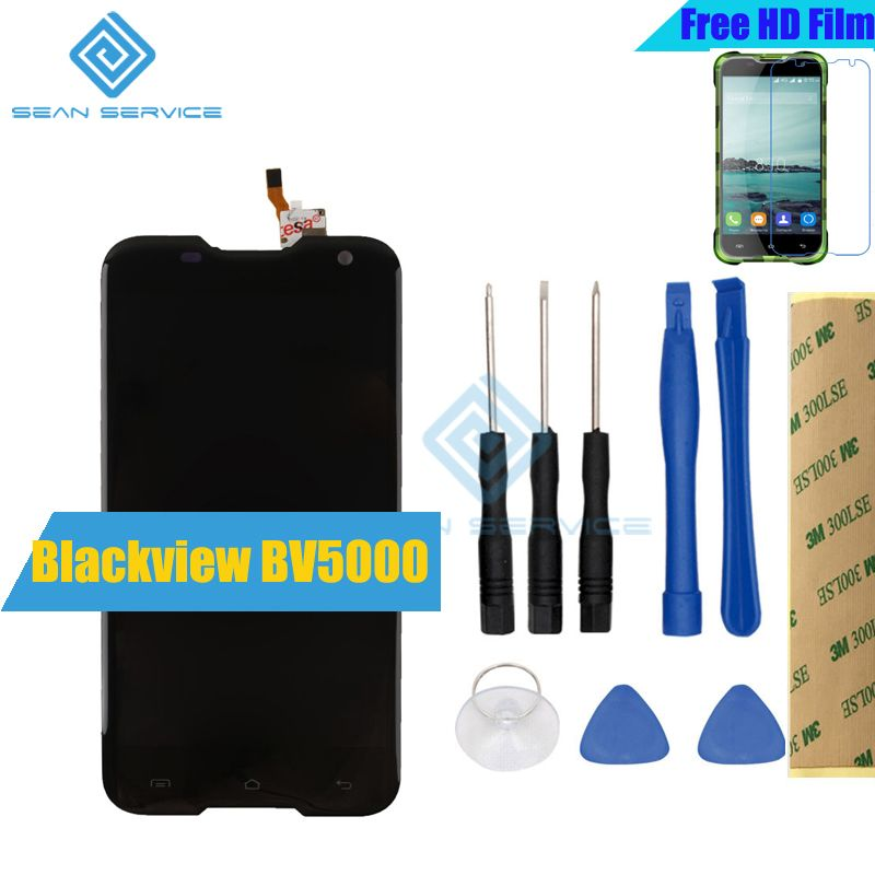 For Blackview BV5000 Original LCD lcds Display+Touch Screen 100% Original Screen Digitizer Assembly Replacement +Tools 5.0inch