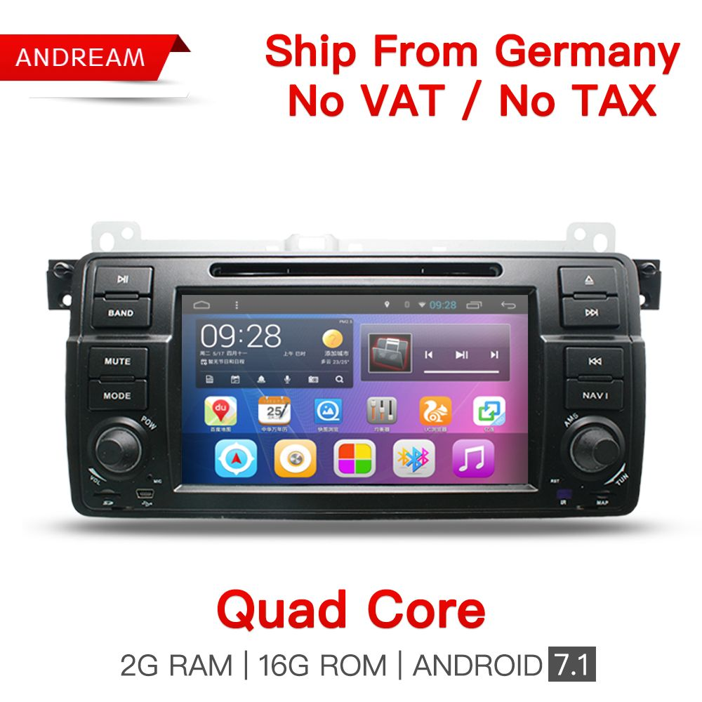 Quad-Core Android 7.1 IN-Dash Car DVD Player For BMW/E46/M3/MG/ZT Wifi Support DAB GPS Navigation Radio FM
