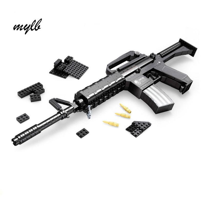 Mylb apprentissage et l'éducation ausini blocs armes modèle de construction jouets 524 Pcs Briques Pistolet Série M16/Classique Jouets pour garçon cadeau