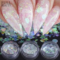 Full Beauty AB Chameleon Color Sequins Nail Art Glitter Flakes UV Gel Polish Star Heart Flower Paillette Decor Tools CHAB01-15-1