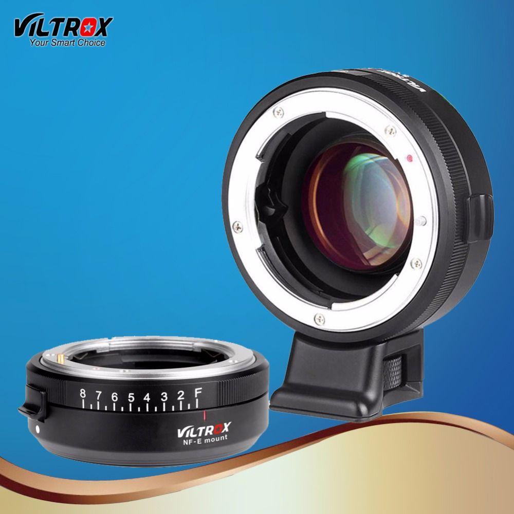 Viltrox NF-E Focal Reducer Speed Booster Objektiv-adapter Turbo Öffnung Ring für Nikon F Objektiv Sony A9 A7R A7S A6500 A6000 kamera