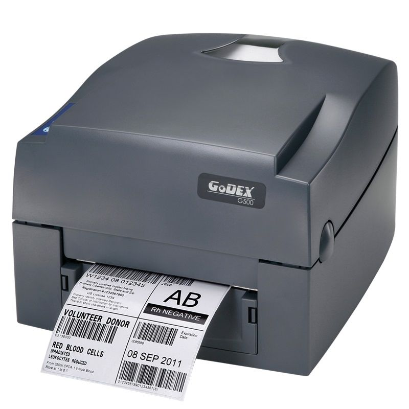 Godex ribbon printer G500U 203dpi thermal barcode label USB printer stickers paper clothes hang tag Impressora multifuncional