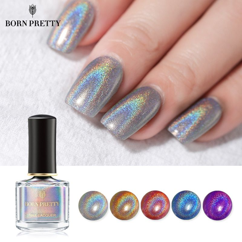 BORN PRETTY Holographic Laser Nail Polish 6ml Flourish Series Varnish Shining Glitter Nail Art Lacquer Polish