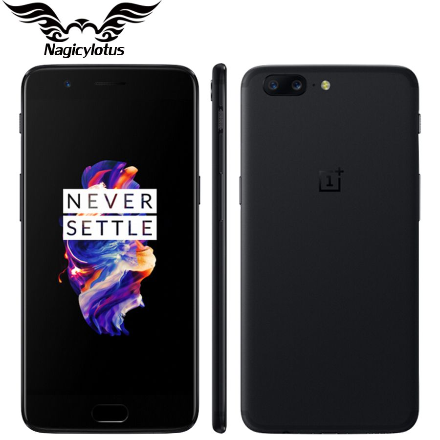 Brand New Original OnePlus 5 Mobile phone 4G LTE 5.5''Snapdragon 835 Octa Core 6GB 64GB 20.0MP 16.0MP NFC Fingerprint Smartphone