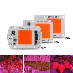 1 unids hydroponic AC 220 V 20 W 30 W 50 W LED crece espectro completo 380nm-840nm para interiores LED crece la luz