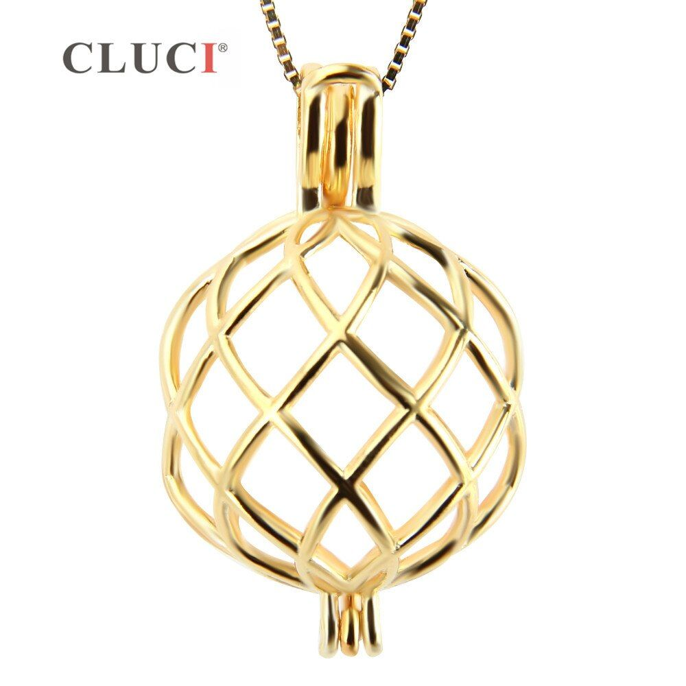 Cluci más grande forma retorcida jaula para mantener 6 colorido perlas, sólido plata y chapados en oro de joyería de accesorios para el collar DIY