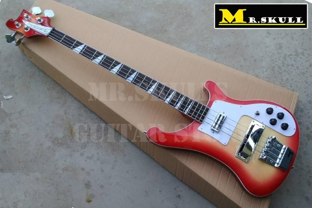 OEM Electric Bass Guitars Cherryburst Rickenback 4003 bass guitar with 4 strings