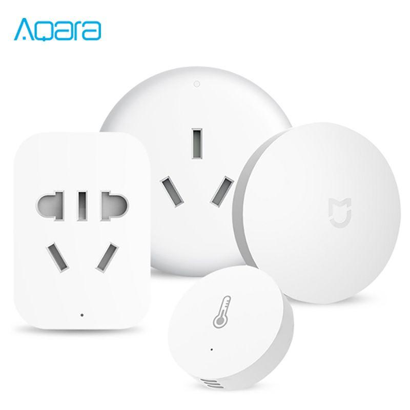 Xiaomi Aqara Mijia Smart Home Temperature Control Conditioner Controller Temperature Humidity Sensor 2.4G ZigBee Wireless Switch
