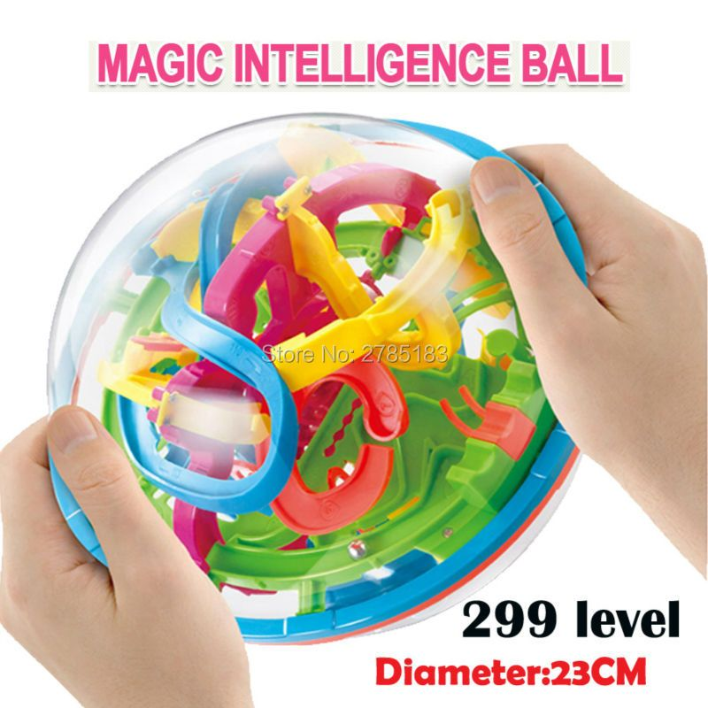 299 level 23cm Biger 3D Magic Maze Ball perplexus magical intellect ball educational toys Marble Puzzle Game IQ Balance toys