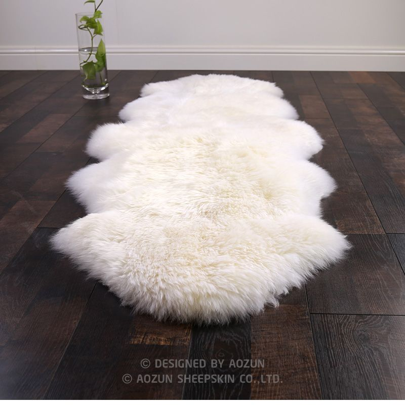 WonderFur SP1101 1P 4P Real NZ sheepskin rug 6 colors shaggy sheep skin fur carpet for home decor white fur sofa cover blanket
