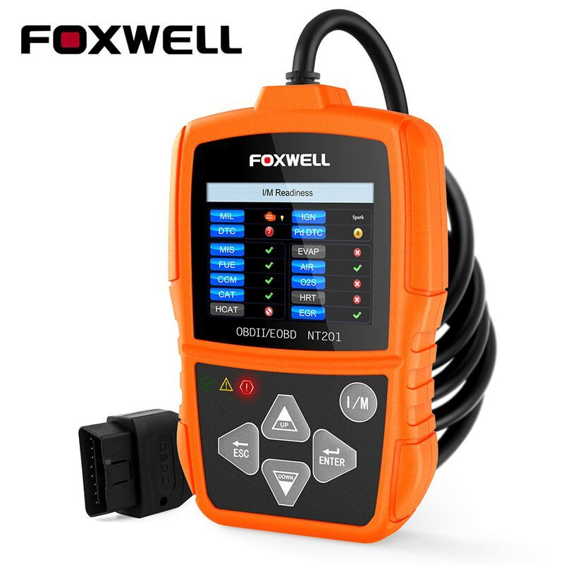 Foxwell NT201 OBD OBD2 Auto Scanner Automotive OBDII Code Reader Diagnostic-Tool for Multi Brand Cars OBD 2 Diagnosis PK ELM327