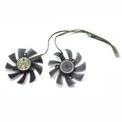 2 Pcs/85 Mm T129215SU 4Pin Dua Bola Bearing untuk Gigabyte GTX 580 Gaming 4 GB MSI RX 460 480 580 Kartu Video Cooler Fan