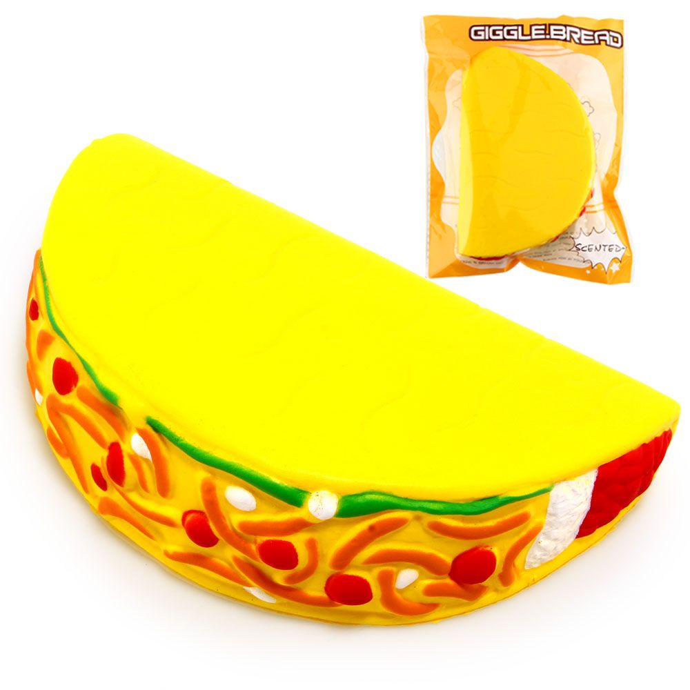 15CM Jumbo Squishy Taco Squishy Soft Pu Slow Rising Original Package Collectibles Squishies Squeeze Toy