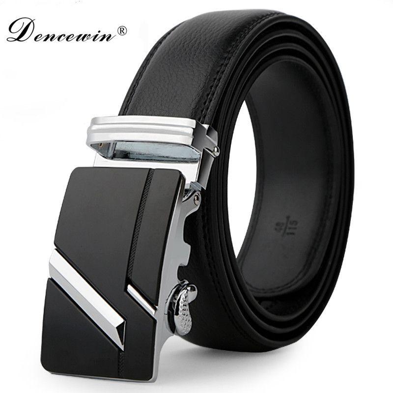 leather strap male automatic buckle belts for men authentic girdle trend men's belts ceinture Fashion designer jean belt