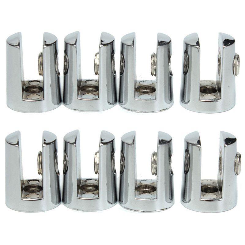 Neue Ankunft Hohe Qualität 8 Stücke Runde Regale Unterstützung Klammern Klemmen Für 4-6mm Glas Holz Acryl
