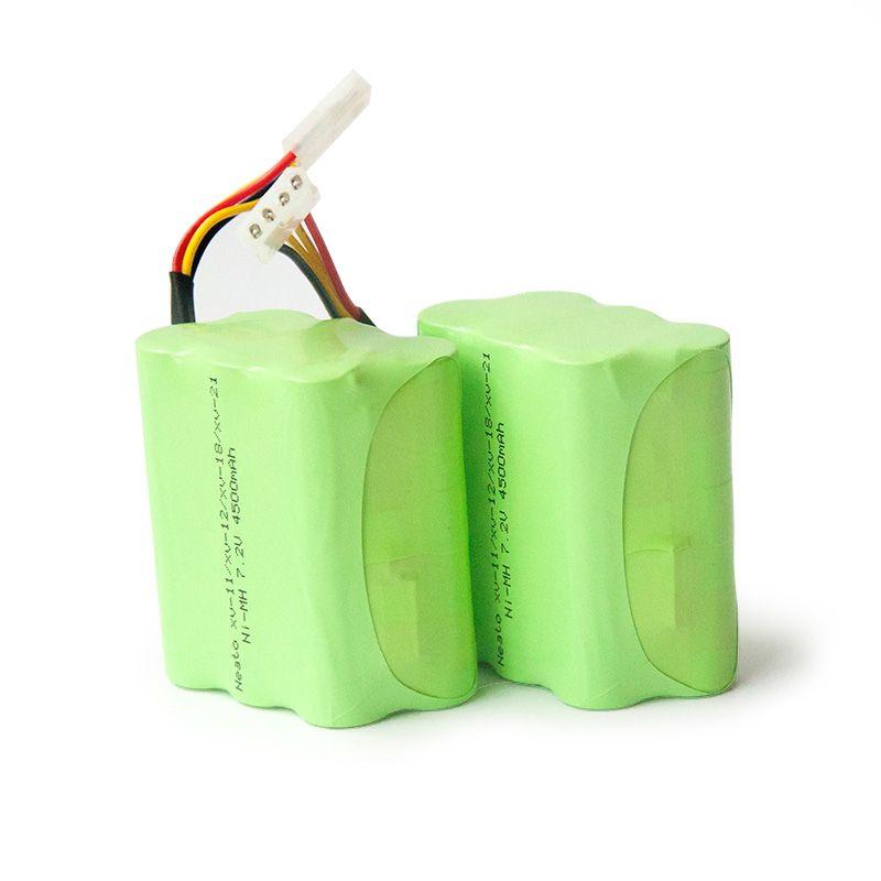 2 PCS 7.2v 4500mAh Battery Pack for Neato XV-21 XV-11 XV-14 XV-15 robot Vacuum Cleaner Parts Neato xv Battery Signature pro