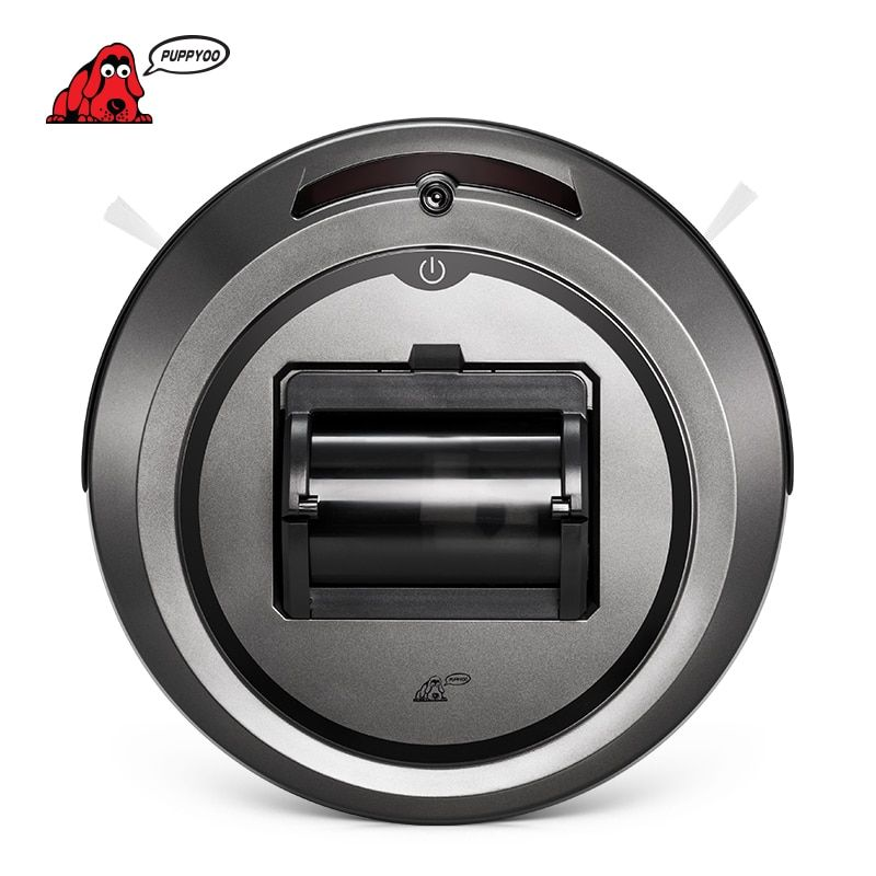 PUPPYOO Robotic Vacuum Cleaner Intelligent Multifunctional Collector <font><b>Self</b></font>-Charge and High Suction Power Side Brushes WP615
