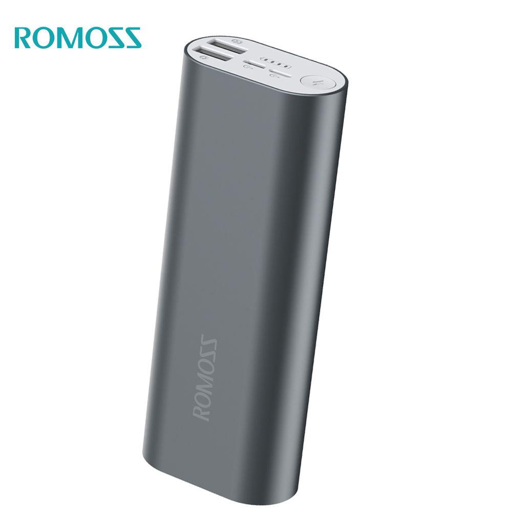 100% ursprüngliche ROMOSS Energienbank 20000 mAh ACE20 Externe Batterie 5 V 2 Usb-ausgang für iPhoneX Samsung S8 Huawei Xiaomi iPhone8plus