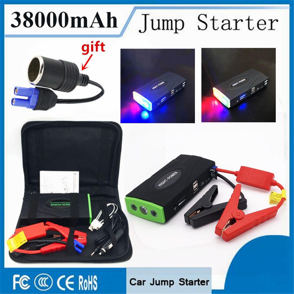 High Capacity 38000mAh Car <font><b>Jump</b></font> Starter 600A 12V Portable Starting Device Power Bank Car Starter For Car Battery Booster Charger