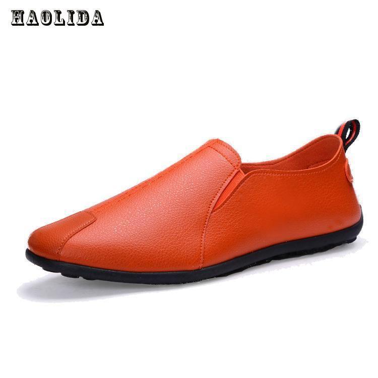 Haolida 2017 Лидер продаж мода лето Мужские Лоферы Повседневное кожа Удобная обувь для вождения мягкие мужские дышащие мокасины