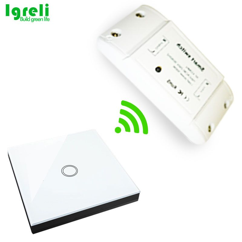 Igreli Wireless Touch Smart Switch Stick,Common Home Modification Diy Parts With 433mhz Remote Receiver Control for home light