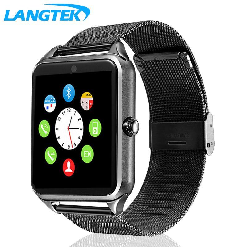 Langtek Смарт-часы GT12 часы Поддержка синхронизации Notifier sim-карты Bluetooth Подключение для Android Apple Iphone телефон SmartWatch