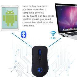 4 Bluetooth & 2.4G Dual Mode Rechargeable Permainan Tikus Nirkabel