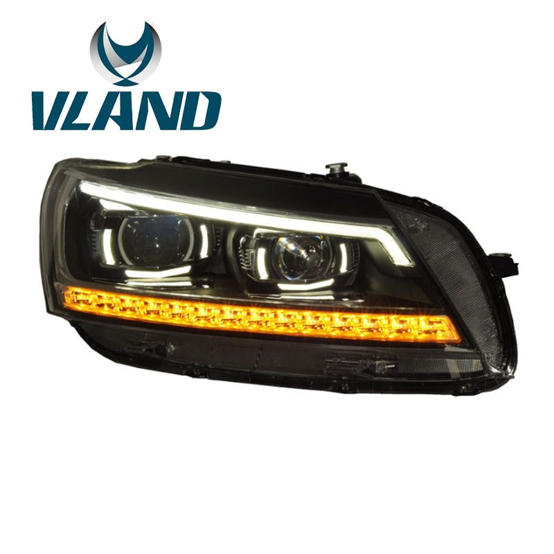 VLAND Factory For Car Head Lamp For Passat B7 2012 2013 2014 2015 LED Light For B7 Bi-Xenon Projector Plug And Play Waterproof