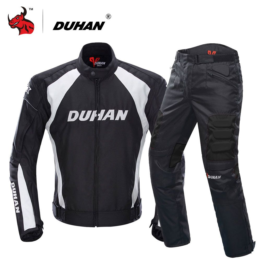 DUHAN Motorcycle Jacket Motocross Suits Jacket&Pants Moto Jacket Protective Gear Armor Motorcycle Racing Jackets