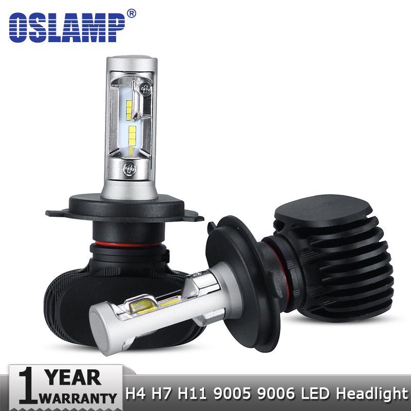 Oslamp H4 Hi lo H7 H11 9005 9006 Car LED Headlight Bulbs CSP Chips Auto Led Headlamp Fog Light Bulbs 50W 8000LM 6500K 12v 24v