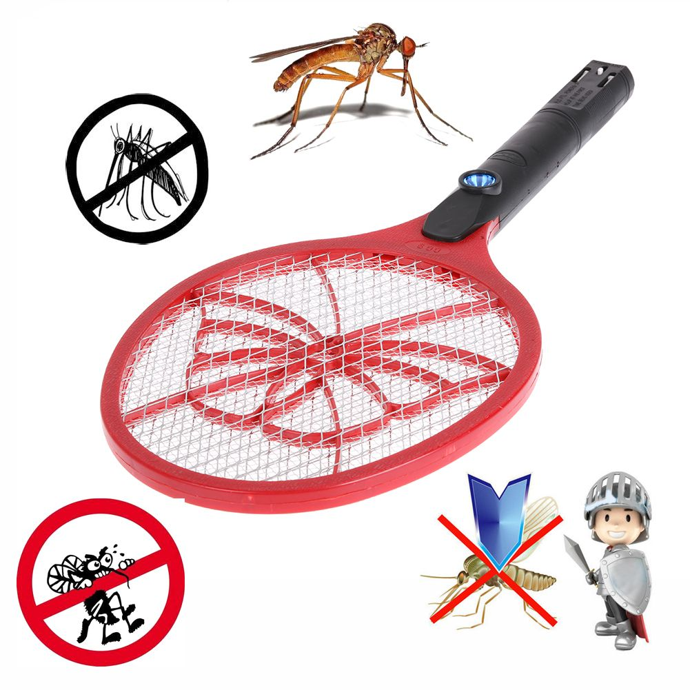 AC 220V Rechargeable Electric Mosquito Swatter with LED Light Insect Pest Bug Fly Zapper Swatter Hand Racket Mosquito Killer