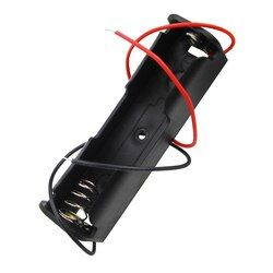 18650 Battery Li-ion 3.7V Clip battery holder Box Case Black With Wire Lead battery holders 10Pcs