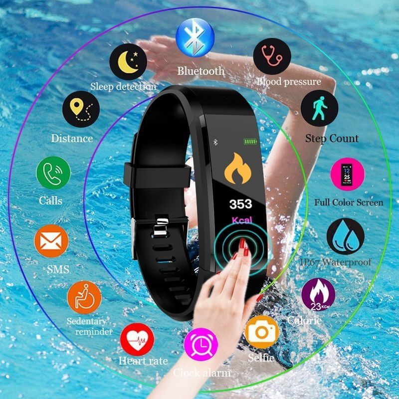Hot Smart Bracelet Sport Bluetooth Wristband Heart Rate Monitor Watch Activity Fitness Tracker Supporting Dropshipping